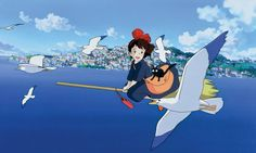 Kiki's Delivery Service [魔女の宅急便 Majo no Takkyūbin] (Hayao Miyazaki, Hayao Miyazaki, Kiki Delivery, Kiki's Delivery Service, Film Anime, Anime Manga, Sanrio Hello Kitty, Heros Film, Studio Ghibli Films, Castle In The Sky