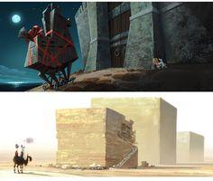 Artes de Tim Lamb para a DreamWorks | THECAB - The Concept Art Blog