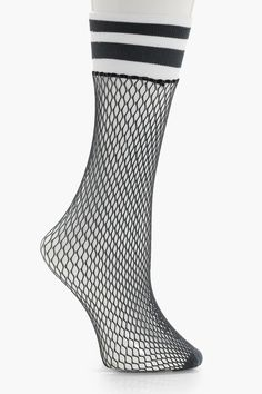 Lucia Sports Trim Fishnet Socks