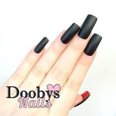 Doobys Square - Matte Black / Gel Look #REDBOTTOMS  #louboutin #louboutinnails - 24 Pointy Claw Nails Press on nails #mynailsshitonyours #yinyang #bling #nailporn #instagood #igdaily #nail #nails #chanel #stilettonails #stilettos #stilettonail #newfavorites #pink #glitter #diamonds #shiny #Swarovski