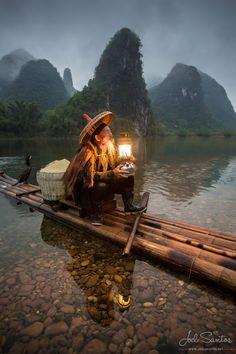 Fisherman Cormorant, Yangshuo, Chine - JOEL SANTOS - Photographie | Photos de voyage et ateliers