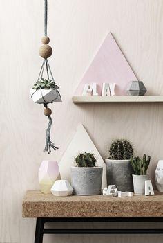 www.pandurohobby.com Home Decor by Panduro #DIY #concrete #cactus #ampel