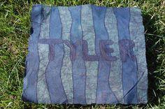 Customized Boys Name Batik Fabric Print by KarmaKittenStudios, $55.00