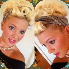 Rockin the pin up hair do !! Lovin it !! <3