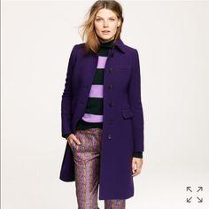 J.Crew Double-Cloth Metro Coat W/Thinsulate Lining