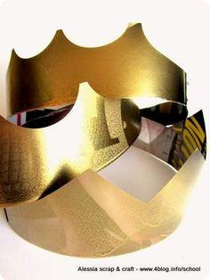Coroncine di carta per la festa di Capodanno    Gold New Year's Crown