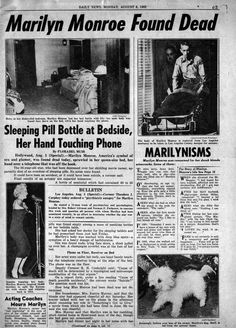 Aug. 5, 1962. Marilyn Monroe is found dead in the bed of her Los Angeles home…