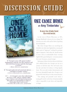 Creating One Came Home — amy timberlake's books