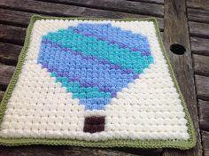 Ravelry: madaboutpooh's Jamie balloon fiesta - pixel blanket done with puff stitches. LOVE!