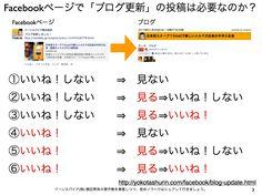 Facebookページで「ブログ更新しました」の投稿は必要か? yokotashurin.com/...