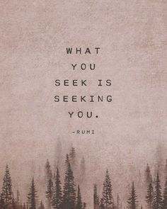 Rumi Poetry art, what you seek is seeking you, quote print, gift for her, rumi quote art, gif...