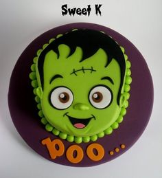 Halloween Monster Cake - by Karla (Sweet K) @ CakesDecor.com - cake decorating website