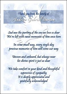 Bereavement Sympathy Cards On Pinterest Sympathy Thank