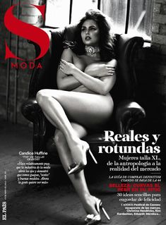 The Naked Truth – Plus size model Candice Huffine covers the May 19th issue of Spain's S Moda. In front of Damon Baker's lens, Candice shows off her curves in a mix of lingerie and sparkling gems. Lush curls by hair stylist Paul Merritt and pink lips by makeup artist Lucy Bridge give the brunette beauty the perfect pin-up look.