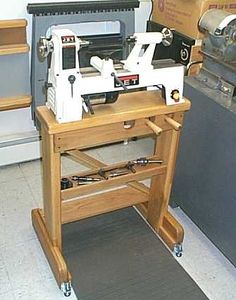 wood lathe stand More