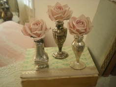 repurposed salt and pepper shakers (I just happen to have two tarnished silver S shakers in the cupboard)