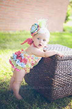 Girls Bird's-The-Word Ruffled Butt Romper Halter Style Sizes 3m - 3T Little 4 Awhile on Etsy, Sold