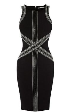 Karen Millen Tribal Bandage Knit Dress.