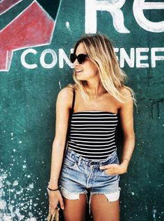 7 New Ways to Wear Your Jean Shorts This Summer via @WhoWhatWear