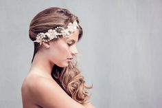 Boho Flower Crown Bohemian Bridal Halo Boho by gadegaarddesign