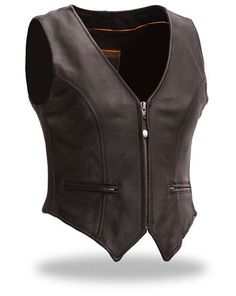 Womens Form Fitted Vest with self adjusting sides