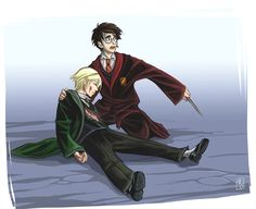 Harry Potter Series - Harry Potter x Draco Malfoy - Drarry Harry Potter Draco Malfoy, Harry James Potter, Harry Potter Ships, Harry Potter Anime, Harry Potter Fan Art, Harry Potter Memes, Harry Potter Hogwarts, Hermione, Drarry Fanart