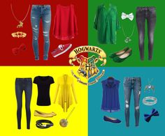 The Hogwarts outfits . I honestly love and want every single one. Harry Potter Style, Harry Potter Outfits, Hogwarts Houses, What To Wear, Fashion Accessories, Style Inspiration, Fandoms, Vacation, Clothes