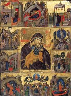 BYZANTINE ART, the use of golden color makes the painting seem luxurious in a way, which might appeal to medieval people who believed in blind faith Orthodox Icons, Byzantine Art, Medieval Art, Art, Christian Art, Art Icon, Art History, Sacred Art, Byzantine