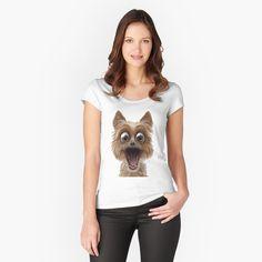 surprised dog face Surprised Dog, Shark, V Neck, Face, Dogs, Women, Fashion, Moda, Fashion Styles