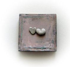 Wedding gift  wedding gift ideas  Heart rock  by MedBeachStones