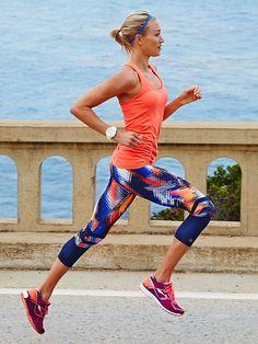 Lava Sonar Capri | Athleta #wicking #compression