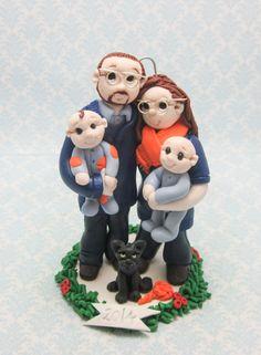 2015 Custom Family Christmas Ornament by lynnslittlecreations on Etsy