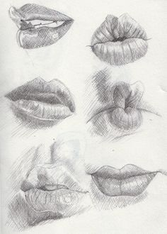 Lips examples Artwork by Khantinka. I need to keep these in mind for my next portrait drawing