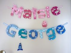Cute name banner for a boy or girl's room