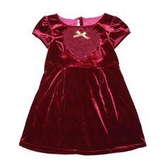 Robe manche courte velours bourgogne (4 ans) échantillons de vêtements pour enfants Billieblush collection automne-hiver à 60% de rabais