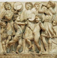 Detalle de la Cantoria de Luca della Robbia (Florencia)