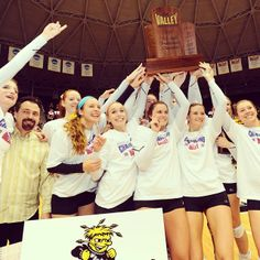 Wichita State Volleyball :: Missouri Valley Conference CHAMPIONS! #WATCHUS head to the NCAA Tournament! Missouri Valley, Wichita State, Ncaa Tournament, Volleyball, Conference, Champion, Future, Sports, Hs Sports