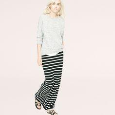 Striped Maxi Skirt via @louandgrey #theampersand