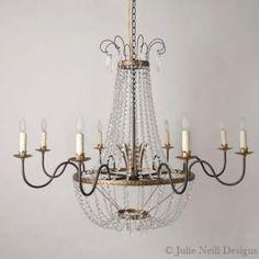 Scarlette Chandelier | Julie Neill Designs - Fine Lighting Handcrafted in New Orleans #lighting #chandeliers #ceilinglighting #designerlighting #interiordesign #homedecor #madeintheus