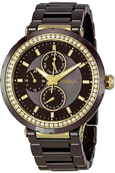 Fossil Women's CE1046 Allie Brown Dial Watch