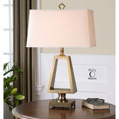 Octavian Brushed Antiqued Gold One Light Table Lamp Uttermost Accent Lamp Table Lamps Lamp