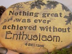 Inspiring words for the gardener  Quote from Emerson by Poemstones $50