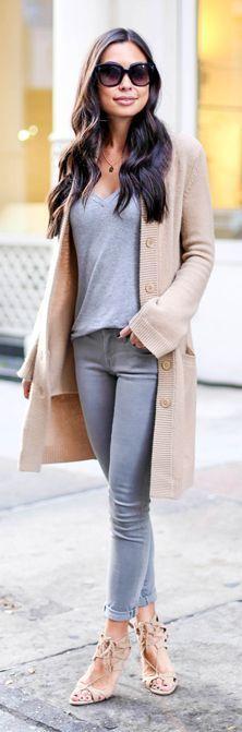 LoLus Fashion: Beige Long Street Chic Cardi