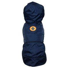 Fabdog Navy Argyle Raincoat -Large >>> Review more details here : Dog coats