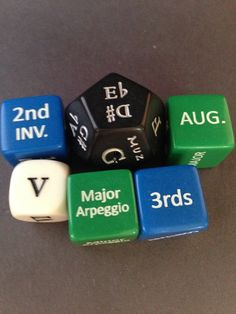Arpeggios, Triads, Scale Forms and Musician's Dice Set