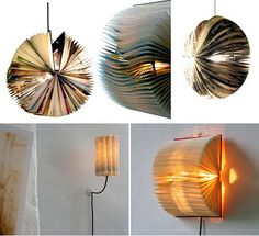 Light Book Custom Booklightand A Heady Array Of Other Old Book Upcycling Ideas Decorating Design