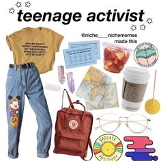 Love the shirt Retro Outfits, Mode Outfits, Vintage Outfits, Fashion Outfits, Hipster School Outfits, Vintage Glam, Aesthetic Fashion, Aesthetic Clothes, Aesthetic Memes