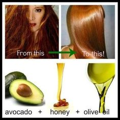 The best DIY projects & DIY ideas and tutorials: sewing, paper craft, DIY. Beauty Tip / DIY Face Masks 2017 / 2018 Amazing DIY hair mask recipe -Read Best Hair Mask, Diy Hair Mask, Avocado Hair Mask, Pelo Natural, Natural Hair Styles, Long Hair Styles, Natural Beauty, Hair Remedies, Natural Remedies