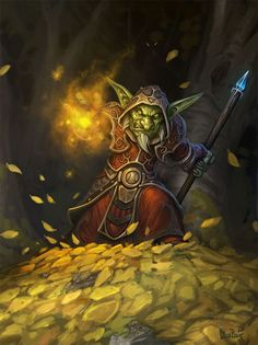 Goblin Blastmage - Hearthstone: Heroes of Warcraft Wiki World Of Warcraft, Art Warcraft, Fantasy Kunst, Fantasy Rpg, Medieval Fantasy, Fantasy Character Design, Character Art, Character Inspiration, Dungeons And Dragons