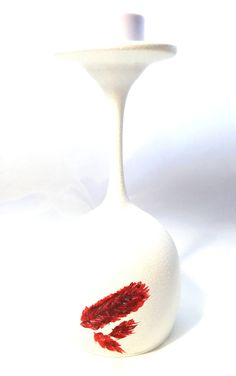 Hand Painted Cardinal Candle Holder